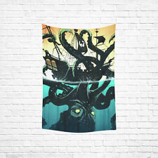 Wall Hanging Tapestry Octopus Cotton Linen Tapestry Home Decor 40 x 60 Inch