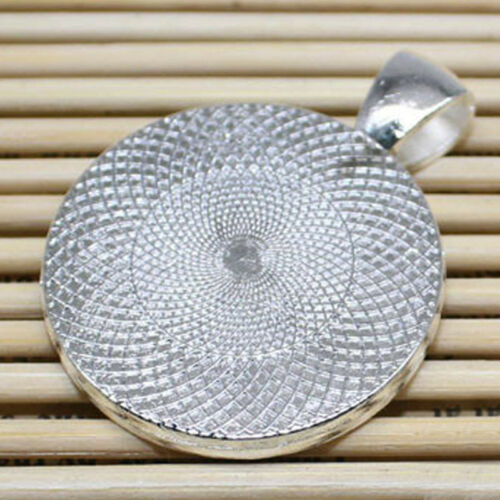 for DIY Necklace Pendant 4PC//10PC Cabochon Base Tray Bezel Bottom Bracket 25mm
