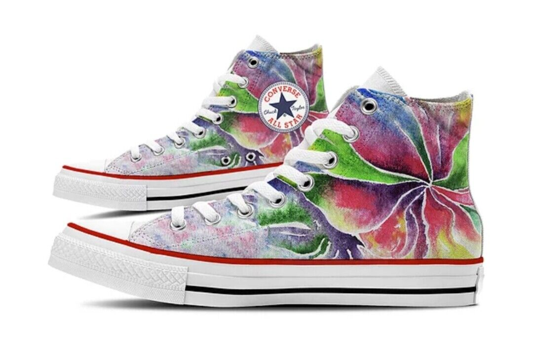Converse All Star Printed with colord Drawing