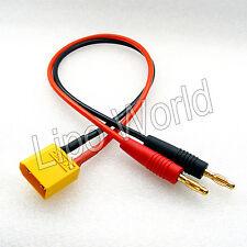 4mm Bananenstecker auf XT90 Stecker Ladekabel imax Adapter Modellbau LiPo Akku