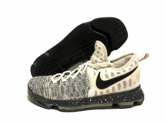 NIKE ZOOM KD 9 'OREO', White Black, Basketball Shoes, Men's Shoes, Size: 8.5 🔥