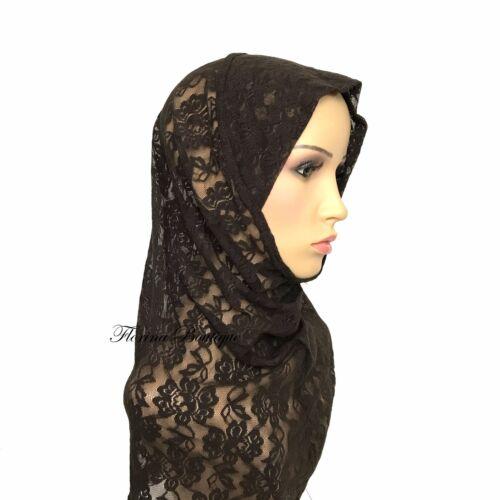 Pretty Lace full underscarf cap under hijab inner stretchy soft