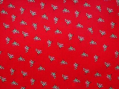 Baumwoll-Druck, Blumen, mini Rosen, 140cm, Kinderstoff, Baumwolle, Stoff