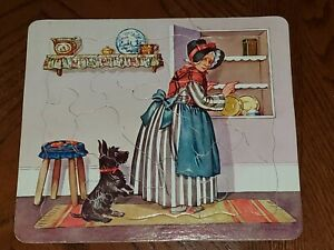 Vintage-50s-Jigsaw-Puzzle-Old-Mother-Hubbard-Black-Scottish-Terrier-Scottie-Dog