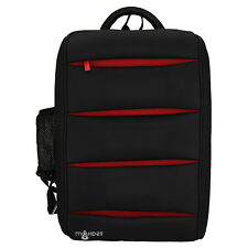 Maxbell 15.6 inch Rectangular Laptop Notebook Backpack Unisex Black and Red bag