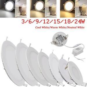 6W 9W 12W 15W 18W 21W 24W LED Recessed Ceiling Panel Light Bulbs Slim Lamp
