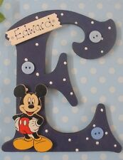 Mickey Mouse Personalised Wooden Letter Initial **ANY Letter & Name ** (db)