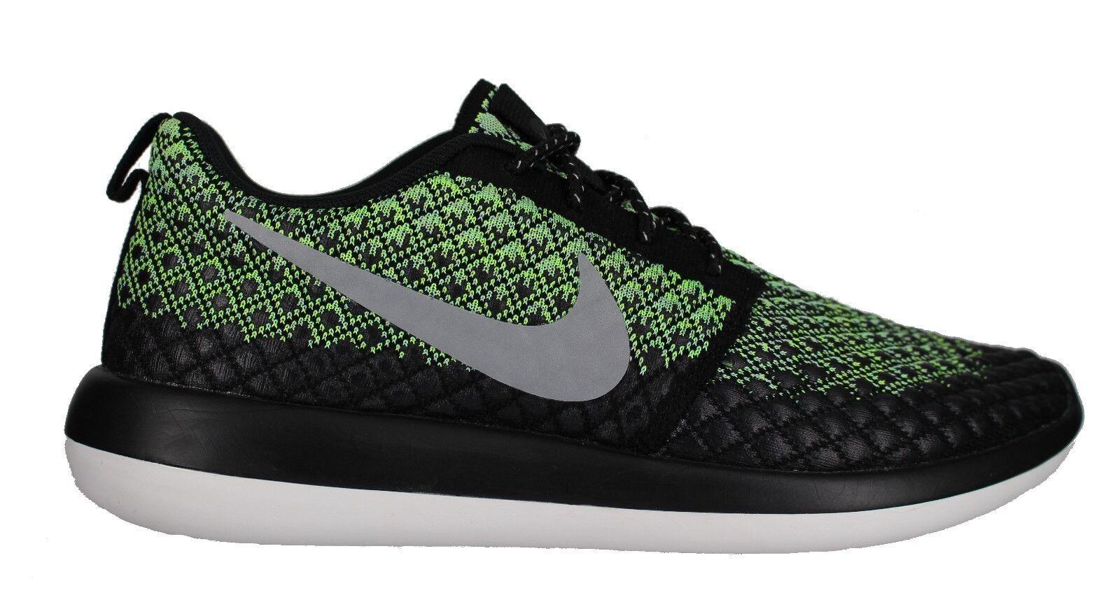 Nike Men's  Roshe Two Flyknit 365  Green - Black Training shoes Size 10.5 New