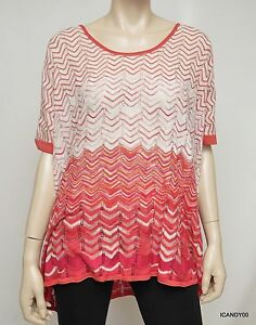 Nwt-198-BCBG-Max-Azria-Silk-Blend-Chevron-Poncho-Knit-Sweater-Top-Pink-S