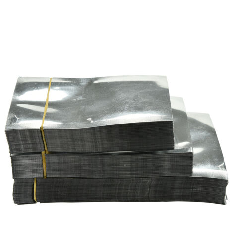 100 X Silver Aluminum Foil Mylar Bag Vacuum Bags Sealer Food Storage Packages YH