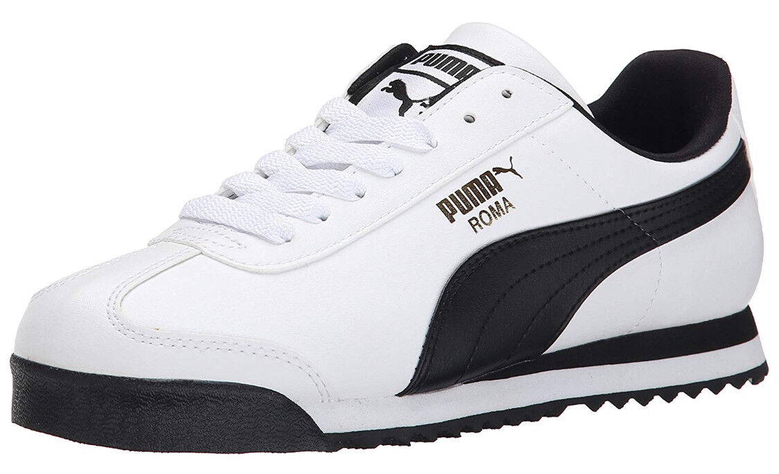PUMA US shoes Size Men Athletic Sneaker Casual Comfort Arch Support White, Black
