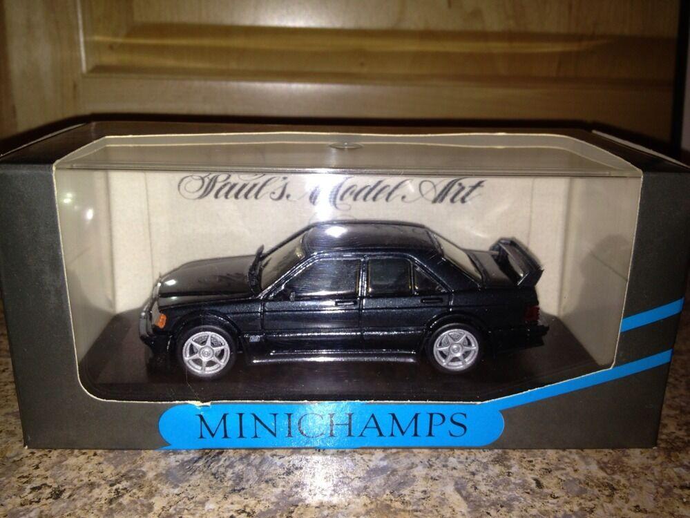 forma única Minichamps Minichamps Minichamps Mercedes 190 E Evo 1 Calle Azul Negro Metálico 1 43 Ultra Raro De Encontrar   Ahorre hasta un 70% de descuento.