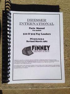 Image Is Loading Dresser 510 515 Wheel Loader Parts Manual Catalog