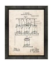 Brewing Beer and Ale Patent Print Old Look in a Beveled Black Wood Frame