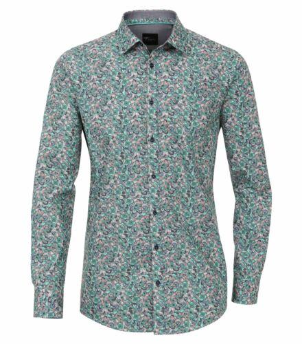 172660200 Venti-Slim Fit-Uomo Camicia con stampa Moderno Con Kent Colletto