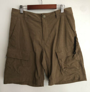Mountain-Hardwear-Mens-Shorts-Outdoor-Hiking-Fishing-Nylon-Cargo-Brown-Pocket-30