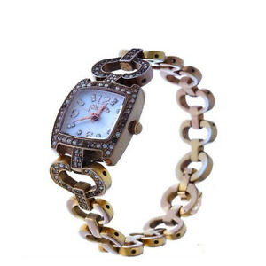 Folli-Follie-Watches-Gold-clear-Woman-Authentic-Used-Y2448