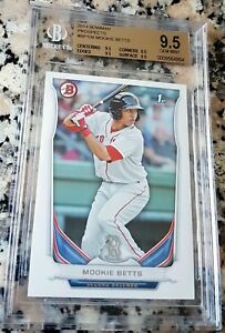 MOOKIE-BETTS-2014-Bowman-Rookie-Card-RC-BGS-9-5-GEM-MINT-Red-Sox-Dodgers-HOT