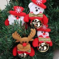 Santa Claus Merry Christmas Tree Hanging Ornaments Jingle Bell Decor Xmas Gift