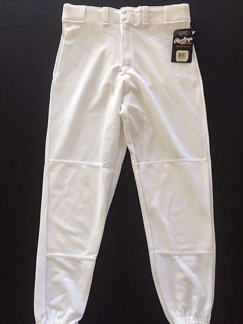Adult Medium Rawlings Baseball Pants White RBBP31 Sports Uniform Knicker Classic