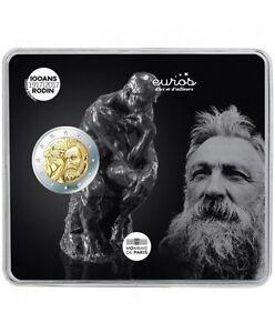 """Münze 2 euro Gedänk- FRANKREICH 2017 - """"Auguste Rodin"""" - Qualität BU"""