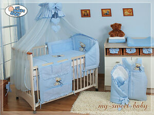 my sweet baby himmel bettset b rchen b r blau 6 13tlg. Black Bedroom Furniture Sets. Home Design Ideas