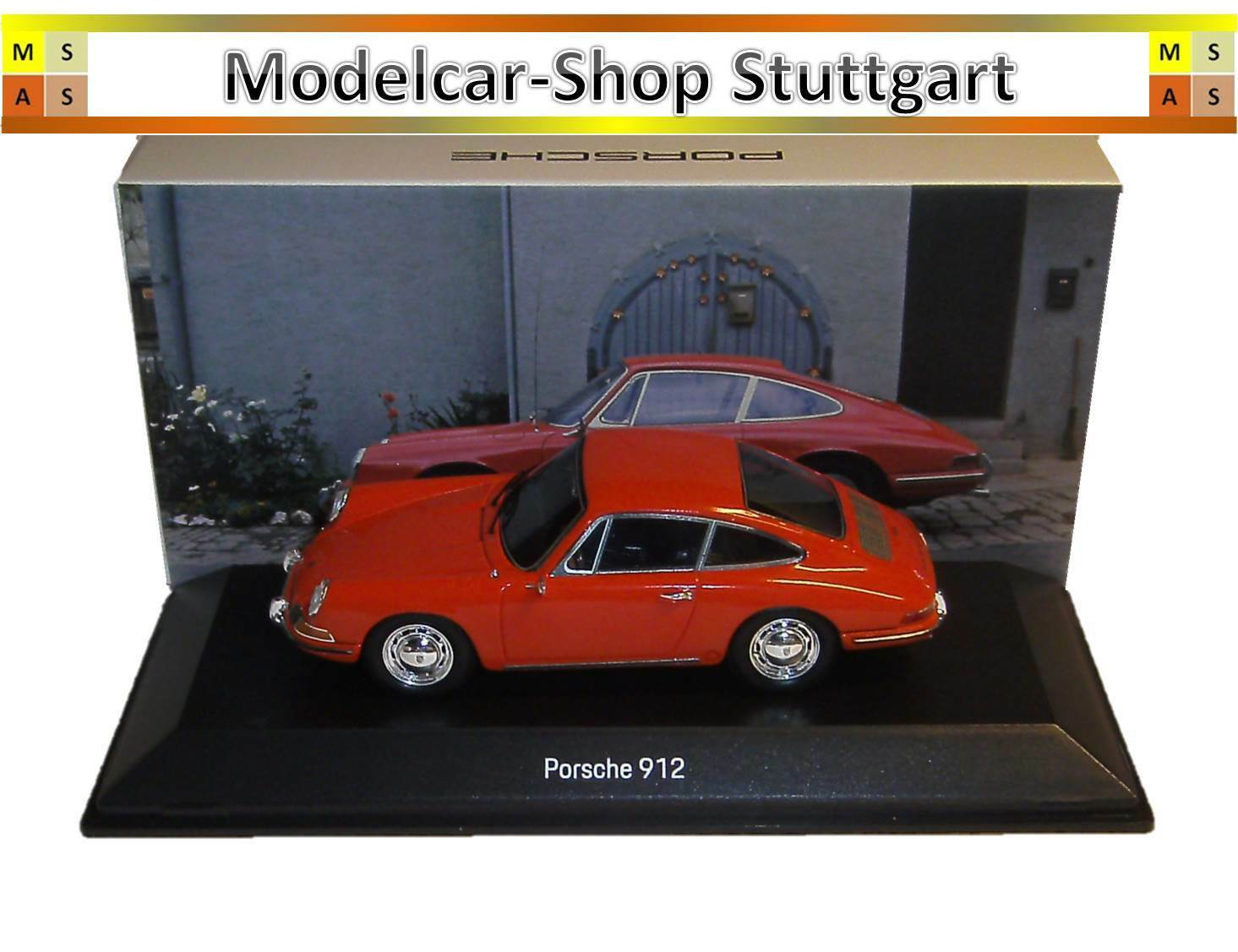 Porsche 912 Coupe orange-Spark 1 43 map02001317-Museum Edition-Brand New