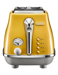 Delonghi Icona Capitals New York 2 Slice Toaster Yellow CTOC2003Y