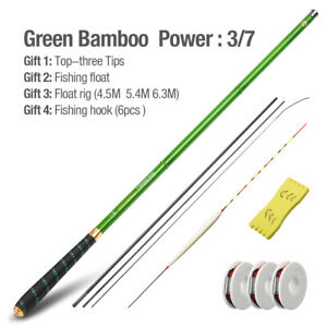 Details about Ultra Light Telescopic Fishing Rod Stream Carp Carbon Fiber Hand Pole 3.6M 7.2M