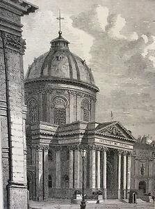 Paris-Palace-de-L-039-Institut-Print-of-1856-France