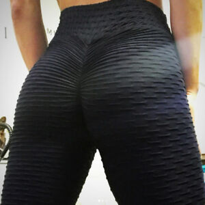bcd5218d24013 Image is loading High-Waist-Fitness-Leggings-Womens-Gym-Workout-Push-