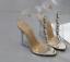 Women-039-s-Open-Toes-Rhinestones-PVC-Gold-Clear-Slingbacks-Sandals-Slim-High-Heels thumbnail 8