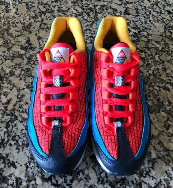 Nike Air Max 95 Now Big Kids Av2289-600 Crimson Blue Athletic Shoes Size 4
