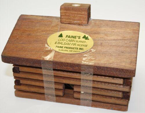 """20 balsam fir sticks incense lodge holder Paine/'s LARGE 5.5/"""" Log Cabin Burner"""