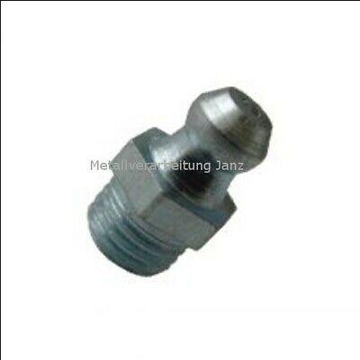 10 Stück Fettnippel Schmiernippel M6 X 1 Mm Gerade Form A (h1) Din71412 Verzinkt Bestellungen Sind Willkommen.