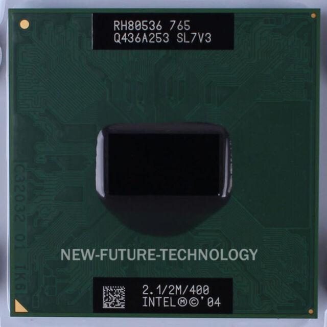 Intel Pentium M 765 2.1GHz 2MB 400MHz H-PBGA479,Socket 478/N CPU Processor SL7V3