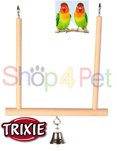 BIRD MIRROR TOY TRIXIE LANTERN WITH BELL BUDGIE CANARY OR SMALL BIRDS PET CAGE Toys