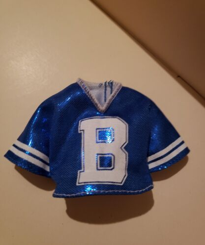 BARBIE DOLL CLOTHES FASHIONISTAS #91 Metallic Blue jersey SHIRT