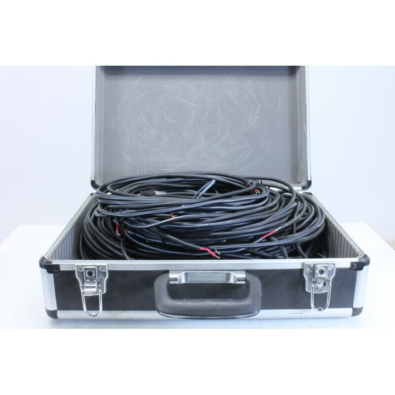 Suitcase Filed With PA Cables and Speaker Cables In Various Length