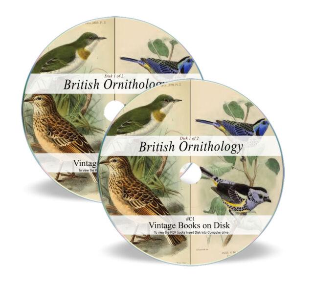 270 Rare Vintage Books on DVD British Birds Watching Ornithology Eggs Britain C1