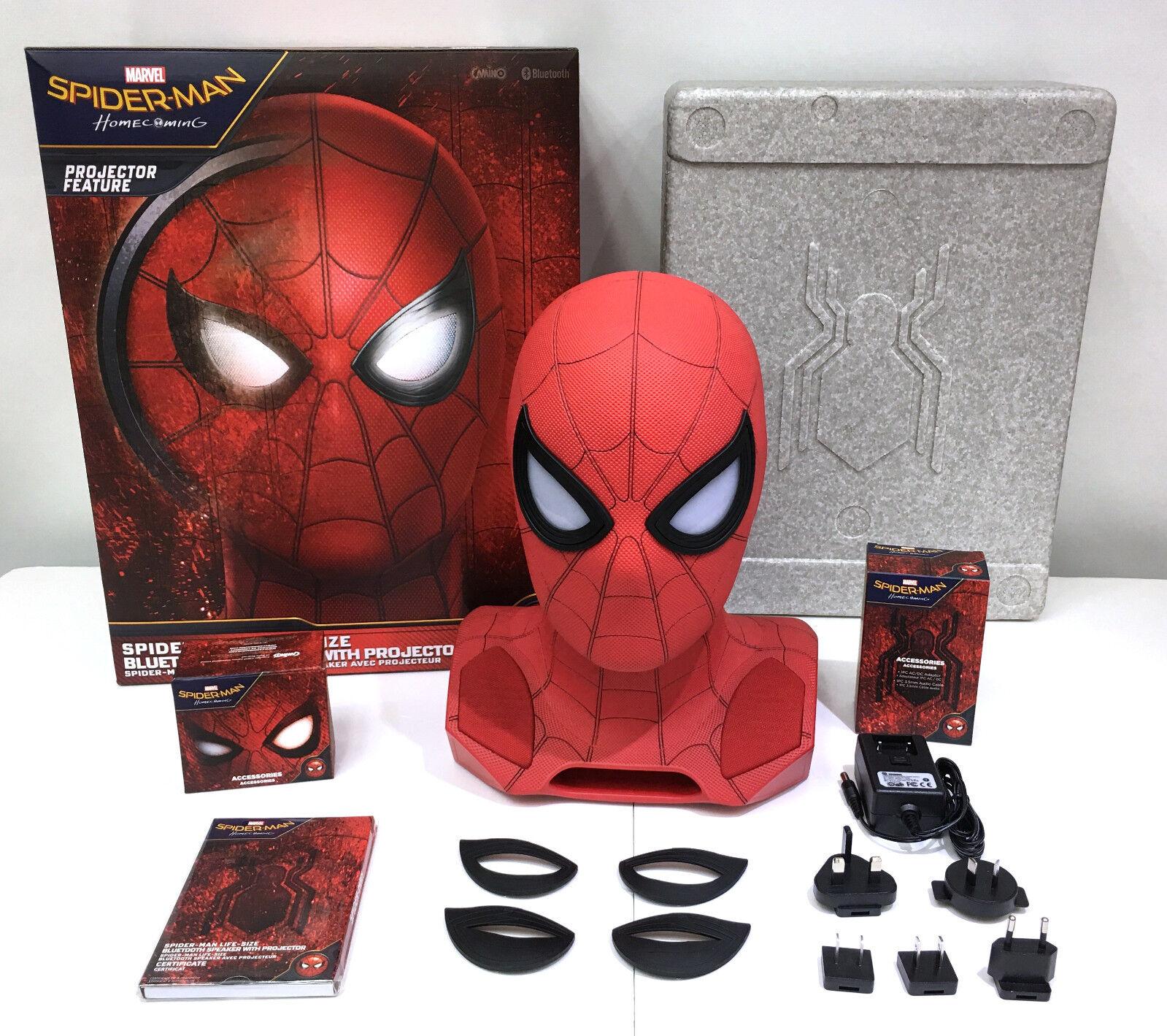 förundras Studios Spider man Hemcoming Version Head 1 1 blåtooth Talman