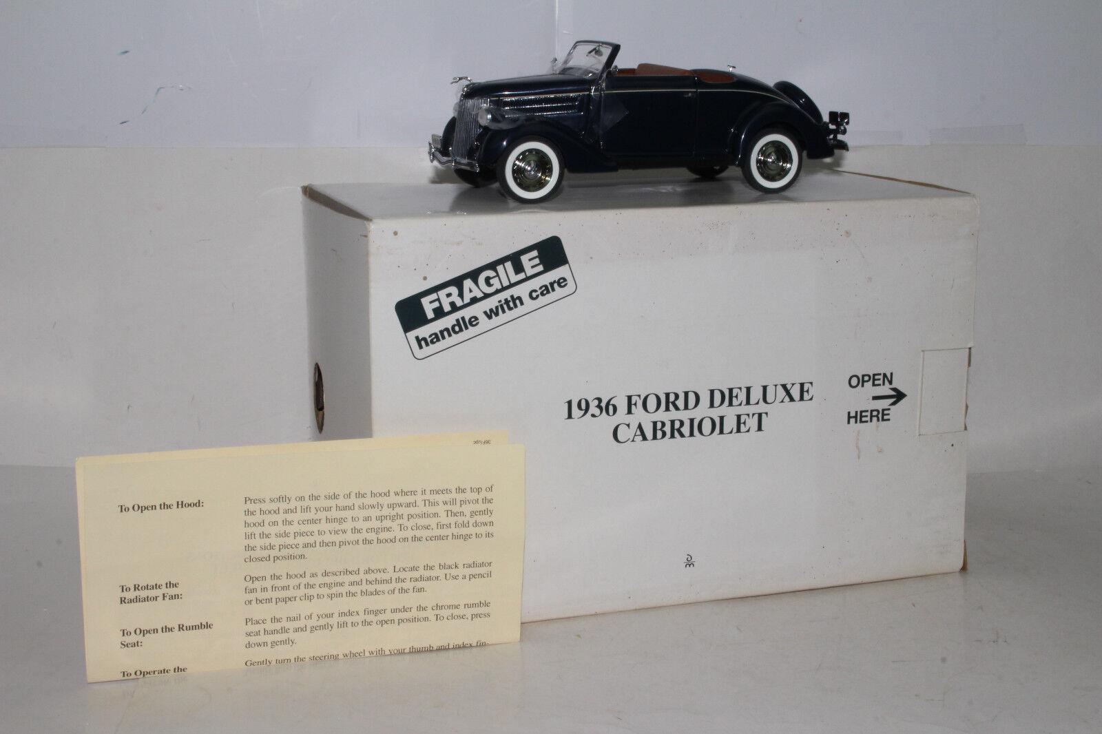 la mejor oferta de tienda online Danbury Danbury Danbury como nuevo 1936 Ford Deluxe Cabrio, azul oscuro, de 1 24, Excelente, En Caja  Envío rápido y el mejor servicio