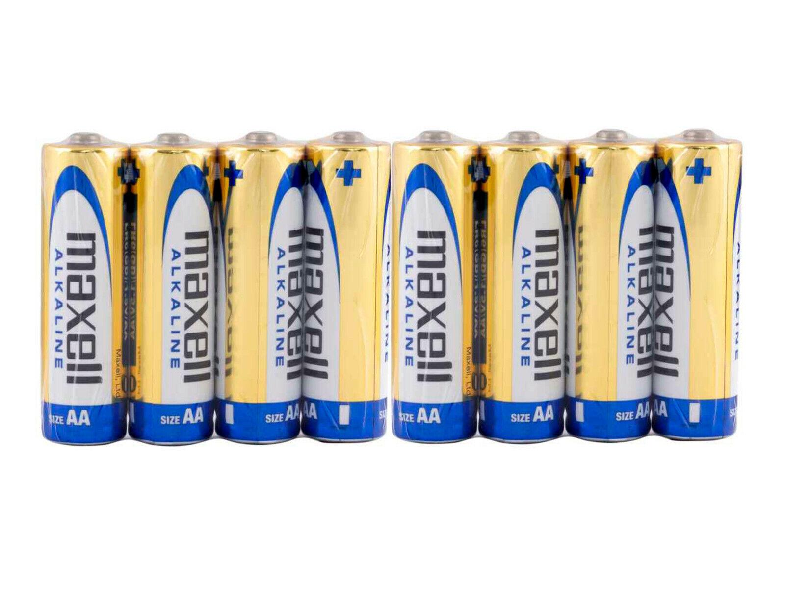 8 X Maxell Batteries Stylus AA Alkaline Batteries lr6 shrink battery