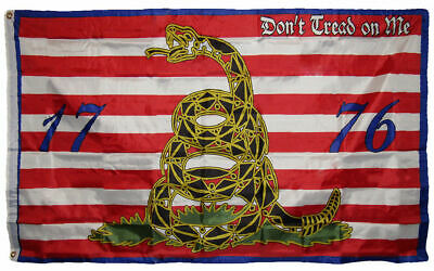 3x5 Navy Jack Gadsden Culpeper Tea Party 1776 Molon Come and Take it Flag 3/'x5/'
