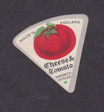 Ancienne petite  étiquette Fromage Royaume Uni BN12978 Fromage à la tomate