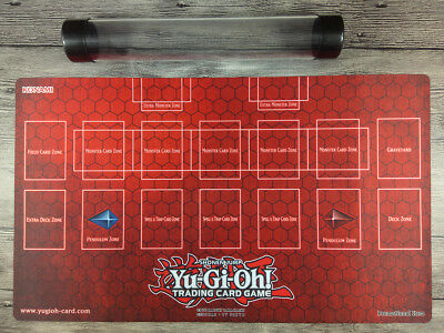 Rule 4 Card Link Zone Playmat Big Size 24 x 14 inch with Free Mat Bag Playmat