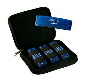 New Hohner Diatonic Harmonica BIP Blue Ice Harmonica 3-Pack - Keys C, D, & G