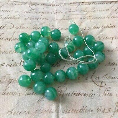 lot  de  1000 perle ANCIENNE vert verte perle de  BRIARE  forme olive ovale