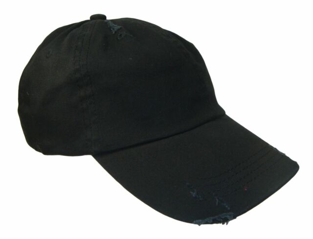 THS Black Vintage Distressed Weathered Retro Polo Baseball Cap Caps Dad Hat  Hats 7ae7d4a9f28