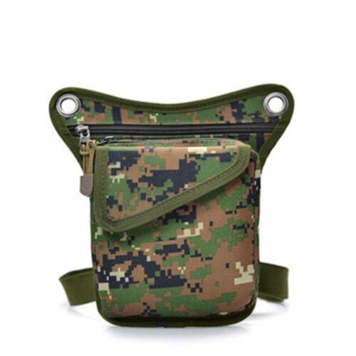 Men/'s Tactical Outdoor Drop Leg Bag Thigh Pouch Utility Waist Belt Military Bags